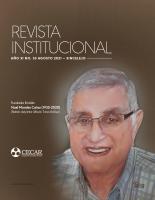 Cubierta para REVISTA INSTITUCIONAL CECAR