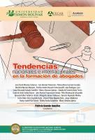Cubierta para Tendencias nacionales e internacionales en la formación de abogados