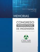 """Cubierta para Memorias Congreso Internacional de Ingeniería """"Integrando conocimientos, transformando sociedades"""""""