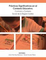 Cubierta para Prácticas significativas en el contexto educativo