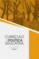 Cubierta para Currículo y Política Educativa
